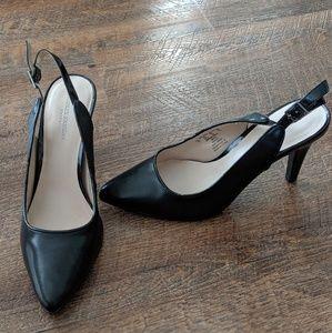 Charles Jourdan Slingback Black Heels